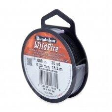 Beadalon® WildFire® siūlas karoliukų vėrimui .008in/0.20mm Black (juodas) (18m/20yd)