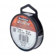Beadalon® WildFire® siūlas karoliukų vėrimui .008in/0.20mm Black (juodas) (45m/50yd)