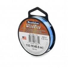 Beadalon® WildFire® siūlas karoliukų vėrimui .008in/0.20mm Blue (mėlynas) (45m/50yd)