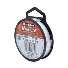 Beadalon® WildFire® siūlas karoliukų vėrimui .008in/0.20mm Frost (18m/20yd)