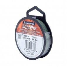 Beadalon® WildFire® siūlas karoliukų vėrimui .008in/0.20mm Green (žalias) (18m/20yd)