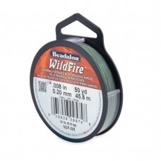 Beadalon® WildFire® siūlas karoliukų vėrimui .008in/0.20mm Green (žalias) (45m/50yd)