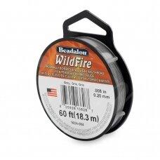 Beadalon® WildFire® siūlas karoliukų vėrimui .008in/0.20mm Grey (pilkas) (18m/20yd)