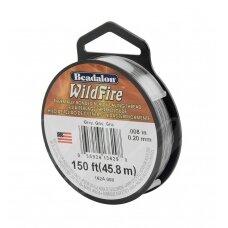 Beadalon® WildFire® siūlas karoliukų vėrimui .008in/0.20mm Grey (pilkas) (45m/50yd)