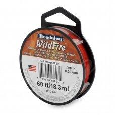 Beadalon® WildFire® siūlas karoliukų vėrimui .008in/0.20mm Red (raudonas) (18m/20yd)