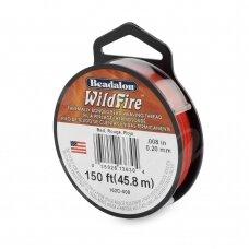 Beadalon® WildFire® siūlas karoliukų vėrimui .008in/0.20mm Red (raudonas) (45m/50yd)