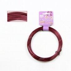 BeadSmith® dekoratyvinė vielutė iš aliuminio 12 diametras/2mm Blood Red (tamsiai raudona) (11.8m)