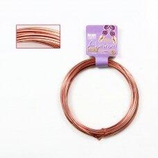 BeadSmith® dekoratyvinė vielutė iš aliuminio 12 diametras/2mm Copper (vario spalvos) (11.8m)