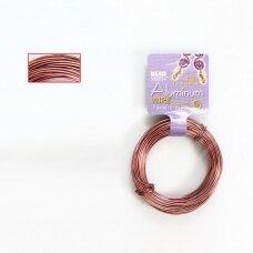 BeadSmith® dekoratyvinė vielutė iš aliuminio 18 diametras/1mm Copper (vario spalvos) (11.8m)