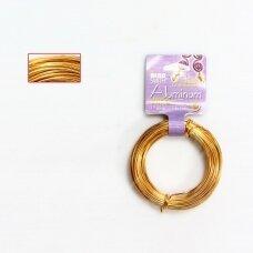 BeadSmith® dekoratyvinė vielutė iš aliuminio 18 diametras/1mm Gold (aukso spalvos) (11.8m)