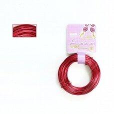 BeadSmith® dekoratyvinė vielutė iš aliuminio 18 diametras/1mm Red (raudona) (11.8m)