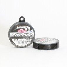 BeadSmith® FireLine® tvirtas siūlas karoliukų vėrimui .006in/0.15mm 6 Lb stiprumas Black Satin (45.7m)