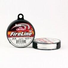 BeadSmith® FireLine® tvirtas siūlas karoliukų vėrimui .007in/0.17mm 8 Lb stiprumas Crystal (45.7m)