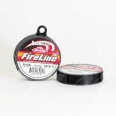BeadSmith® FireLine® tvirtas siūlas karoliukų vėrimui .008in/0.20mm 10 Lb stiprumas Smoke Grey (45.7m)