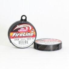 BeadSmith® FireLine® tvirtas siūlas karoliukų vėrimui .009in/0.22mm 14 Lb stiprumas Smoke Grey (45.7m)
