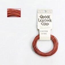 BeadSmith® graikiška odinė virvelė 1.5mm Salmon (5m)
