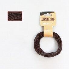 BeadSmith® indiška odinė virvelė 2mm Brown (ruda) (4.57m)