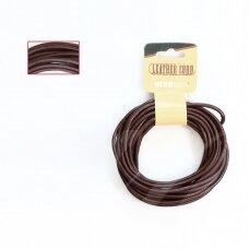 BeadSmith® indiška odinė virvelė 3mm Brown (ruda) (4.57m)