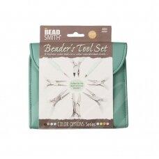 BeadSmith® Fashion Color Pliers Set & Clutch (Aqua)
