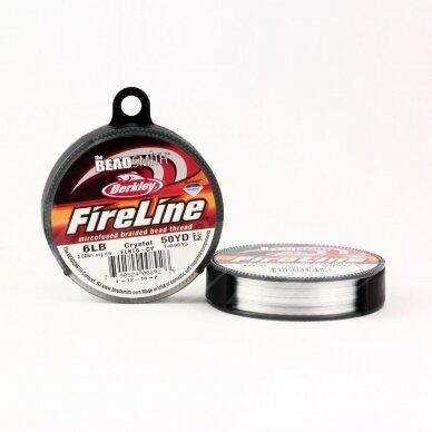 BeadSmith® FireLine® tvirtas siūlas karoliukų vėrimui .006in/0.15mm 6 Lb stiprumas Crystal (45.7m)