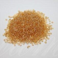 bis0102-12/0 1.8 - 2.0 mm, apvali forma, skaidri, gelsva spalva, apie 50 g.