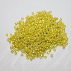bis0122-12/0 1.8 - 2.0 mm, apvali forma, geltona spalva, apie 50 g.