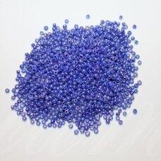 bis0128-12/0 1.8 - 2.0 mm, apvali forma, mėlyna spalva, apie 50 g.