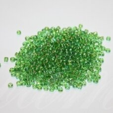 bis0179a-08/0 2.8 - 3.2 mm, apvali forma, skaidri, žalia spalva, ab danga, apie 50 g.