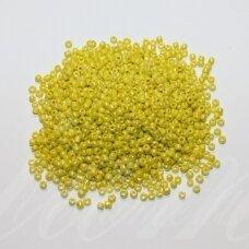 bis0402-12/0 1.8 - 2.0 mm, apvali forma, geltona spalva, ab danga, apie 50 g.