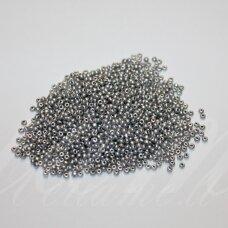 bis0911-12/0 1.8 - 2.0 mm, apvali forma, sidabrinė spalva, apie 50 g.