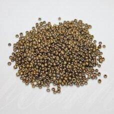 bis0912-12/0 1.8 - 2.0 mm, apvali forma, bronzinė spalva, apie 50 g.