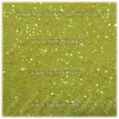 BP0007 geltona spalva, blizgios dulkės,apie 13 g.