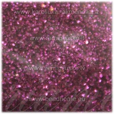 bp0008. tamsi, rožinė spalva, blizgios dulkės,apie 13 g.