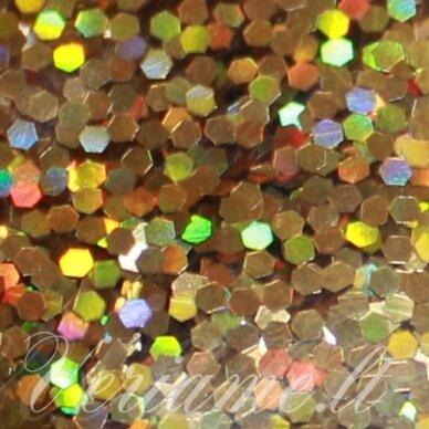 bp0016 auksinė spalva, blizgios dulkės, apie 13 g.