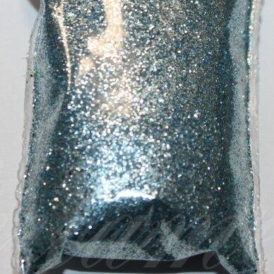BP0017 žydra spalva, blizgios dulkės,apie 13 g.