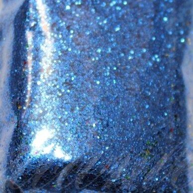 bp0024, tamsi, mėlyna spalva, blizgios dulkės, apie 13 g.