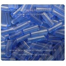 bsk0011 about 2 mm, crushed beads, blue color, transparent, 400 g.