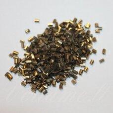 BSK0701-02 apie 2 mm, skaldytas biseris, tamsi, aukso spalva, 500 g.