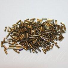 BSK0701-04 apie 4 mm, skaldytas biseris, tamsi aukso spalva, 500 g.