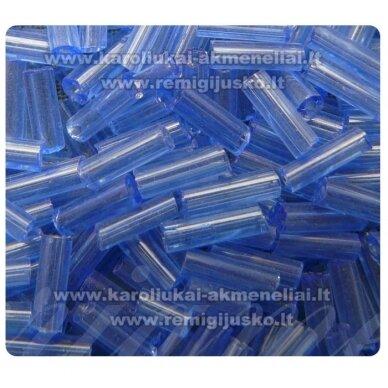 bsk0011 apie 2 mm, skaldytas biseris, mėlyna spalva, skaidrus, 400 g.