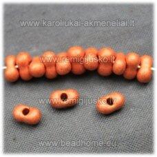 CBA00023-3.2x6.5 apie 3.2 x 6.5 mm, matinis, oranžinė spalva, čekiškas biseris, 25 g.