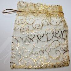 DM0004 apie 130 x 180 mm, auksinė spalva, dovanų maišelis, 1 vnt.