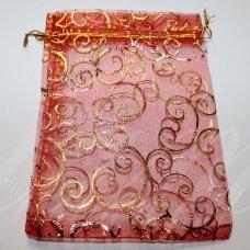 DM0008 apie 130 x 180 mm, raudona spalva, dovanų maišelis, 1 vnt.
