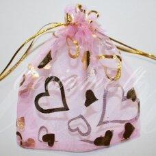 DM0023 apie 90 x 70 mm, šviesi, rožinė spalva, dovanų maišelis, 1 vnt.
