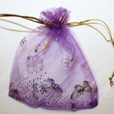 DM0048 apie 110 x 90 mm,  violetinė spalva, dovanų maišelis, 1 vnt.