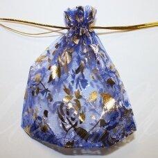 DM0050 apie 120 x 160 mm, mėlyna spalva, dovanų maišelis, 1 vnt.