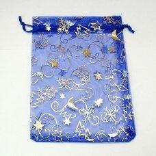 DM0062 apie 110 x 90 mm, mėlyna spalva, dovanų maišelis, 1 vnt.