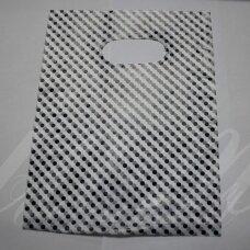 DM0081 apie 180 x 130 mm, balta spalva, dovanų maišelis, 10 vnt.