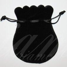 dm0135 apie 130 x 105 mm, juoda spalva, aksominis dovanų maišelis, 1 vnt.