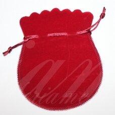 DM0137 apie 160 x 130 mm, raudona spalva, aksominis dovanų maišelis, 1 vnt.